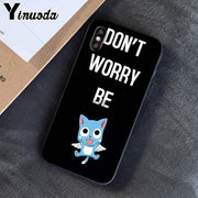 Yinuoda Happy Fairy Tai Japanese Anime Novelty Fundas Phone Case Cover For IPhone X XS MAX 6 6s 7 7plus 8 8Plus 5 5S SE XR