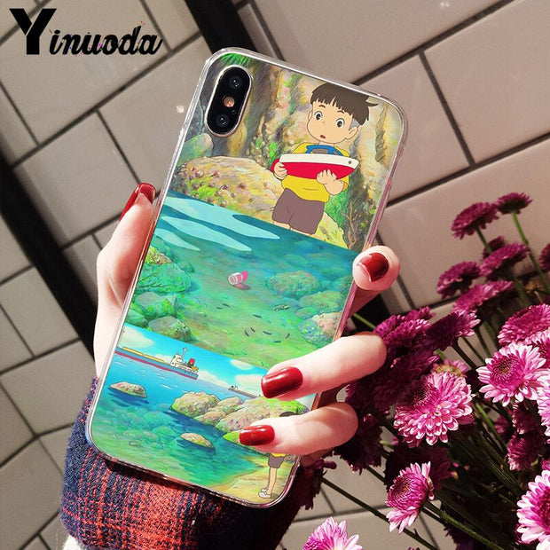 Yinuoda Hayao Miyazaki Anime Ponyo On The Cliff Novelty Fundas Phone Case For IPhone 8 7 6 6S Plus X XS MAX 5 5S SE XR