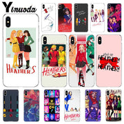 Yinuoda Heathers Broadway Musical New Released Cases Covers For IPhone X XS MAX 7plus 8 8Plus 5 5S XR 6 6S 7 Case