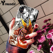 Yinuoda Japan Anime My Hero Academia One Piece Transparent Soft Phone Case For Apple IPhone 8 7 6 6S Plus X XS MAX 5 5S SE XR