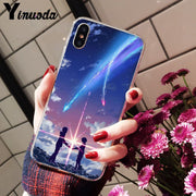 Yinuoda Kiminonawa Your Name Japanese Anime DIY Luxury High-end Protector Case For IPhone 8 7 6 6S Plus X XS MAX 5S SE XR Cover
