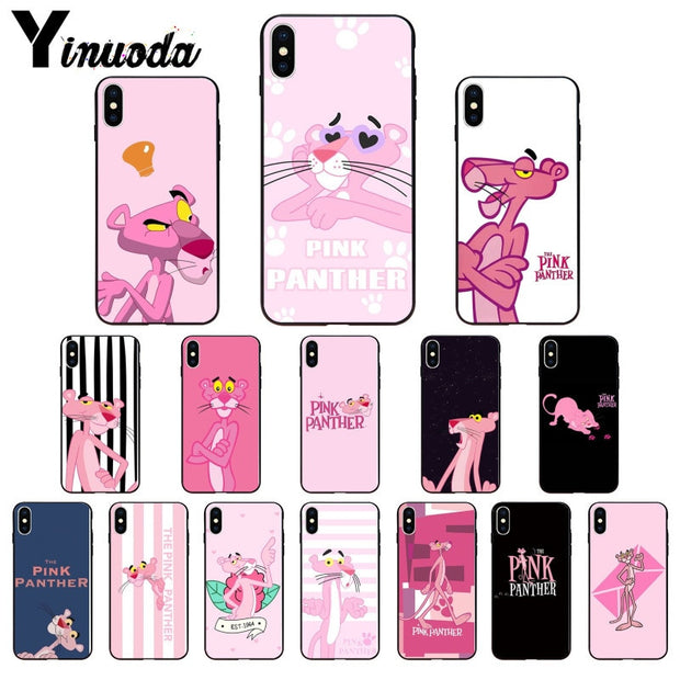Yinuoda Korea Pink Panther Panthera Naughty Accessories Case For Apple IPhone 8 7 6 6S Plus X XS MAX 5 5S SE XR