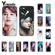 Yinuoda Kpop BTS Bangtan Boys JIMIN Black TPU Soft Phone Case Cover For IPhone 8 7 6 6S 6Plus X XS MAX 5 5S SE XR Fundas Capa