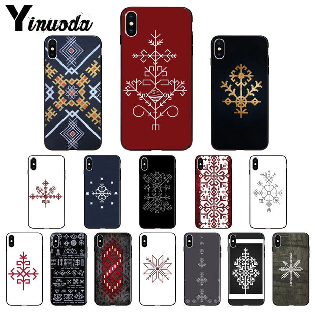 Yinuoda Latvian Ethnic Sun Tree Austras Koks TPU Soft Silicone Phone Case For Apple IPhone 8 7 6 6S Plus X XS MAX 5 5S SE XR