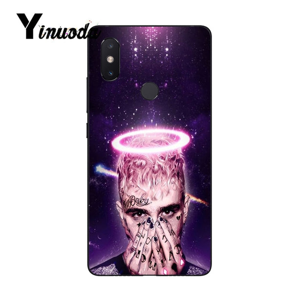 Yinuoda Lil Peep Black TPU Soft Rubber Phone Cover For XiaoMi Note 2 3 Mix 2 Redmi 5 Plus Mobile Cases
