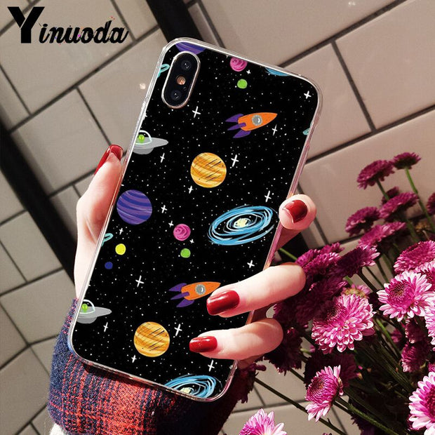 Yinuoda Lover Starry Sky Cartoon Pattern Soft Silicone TPU Phone Cover For Apple IPhone 8 7 6 6S Plus X XS MAX 5 5S SE XR Cover