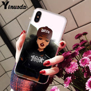 Yinuoda Melanin Poppin Novelty Fundas Phone Case Cover For IPhone 5 5Sx 6 7 7plus 8 8Plus X XS MAX XR