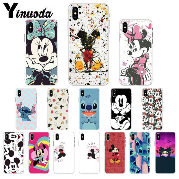 Yinuoda Mickey Minnie Luxury Unique Design Phone Cover For Apple IPhone 8 7 6 6S Plus X XS MAX 5 5S SE XR Cover