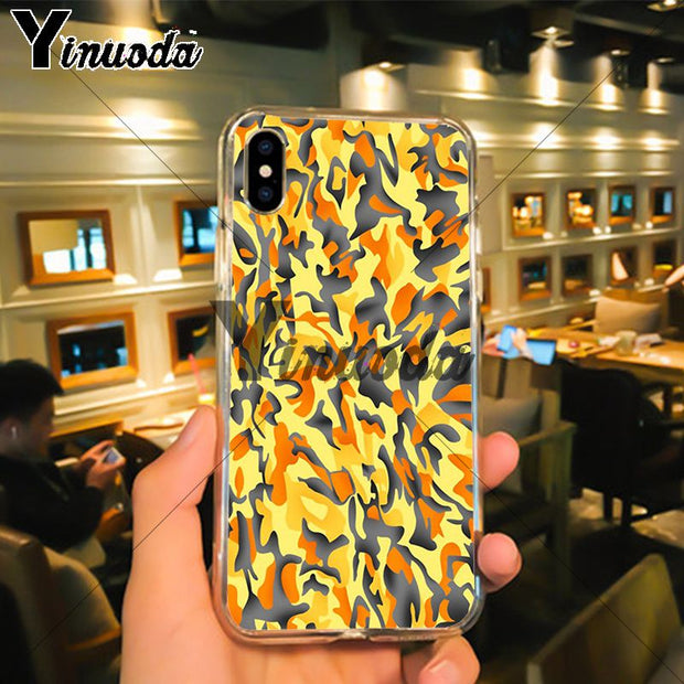Yinuoda Military Army Camouflage Wallpaper Design Case For IPhone X XS MAX 6 6s 7 7plus 8 8Plus 5 5S SE XR Case