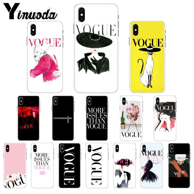 Yinuoda More Issues Than Vogue GD Luxury Unique Design Phone Cover For Apple IPhone 8 7 6 6S Plus X XS MAX 5 5S SE XR Cover