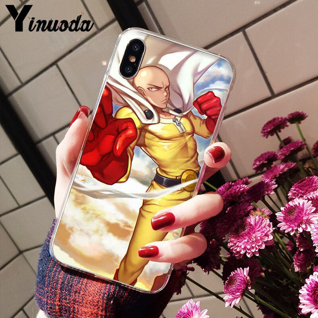 Yinuoda ONE PUNCH MAN TPU Soft Silicone Phone Case Cover For IPhone 5 5Sx 6 7 7plus 8 8Plus X XS MAX XR