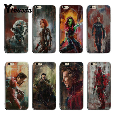 Yinuoda Oil Painting Style Marvel Deadpool Gamora Banner Loki For Iphone XR XSMax Phone Accessories Case For IPhone X XS 7 8plus