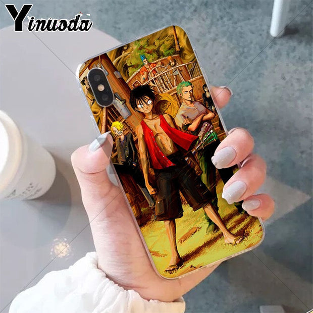 Yinuoda One Piece Coque Shell Phone Case For IPhone X XS MAX 6 6s 7 7plus 8 8Plus 5 5S SE XR