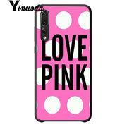 Yinuoda PINK World Black Soft Shell Phone Cover For Huawei P10 P10plus P20 P20 Pro Cover