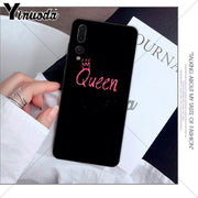 Yinuoda Pink PRINCESS Queen Boss Crown King Phone Cover For Huawei P10 Plus 20 Pro P20 Lite Mate9 10 Lite Honor 10 View10