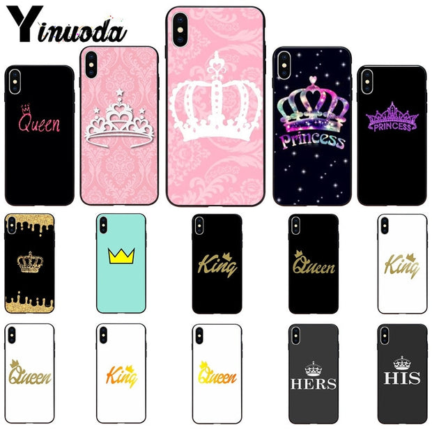 Yinuoda Pink PRINCESS Queen Boss Crown King TPU Soft Silicone Phone Case For Apple IPhone 8 7 6 6S Plus X XS MAX 5 5S SE XR