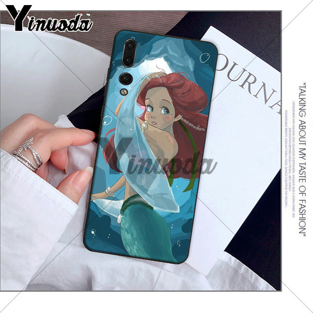 Yinuoda Princess Ariel Little Mermaid Snow Phone Case For Huawei P10 Plus 20 Pro P20 Lite Mate9 10 Lite Honor 10 View10 Cover