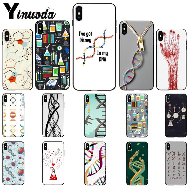 Yinuoda Retro DNA Science Illustration Customer High Quality Phone Case For IPhone 6S 6plus 7 7plus 8 8Plus X Xs MAX 5 5S XR