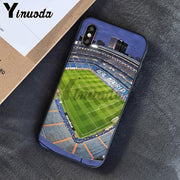 Yinuoda Santiago Bernabeu Soccer Estadio TPU Phone Case Cover Shell For IPhone 6S 6plus 7 7plus 8 8Plus X Xs MAX 5 5S XR