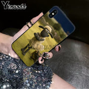 Yinuoda Shaun The Sheep Movie TPU Black Phone Case Cover Shell For Apple IPhone 8 7 6 6S Plus X XS MAX 5 5S SE XR Cellphones