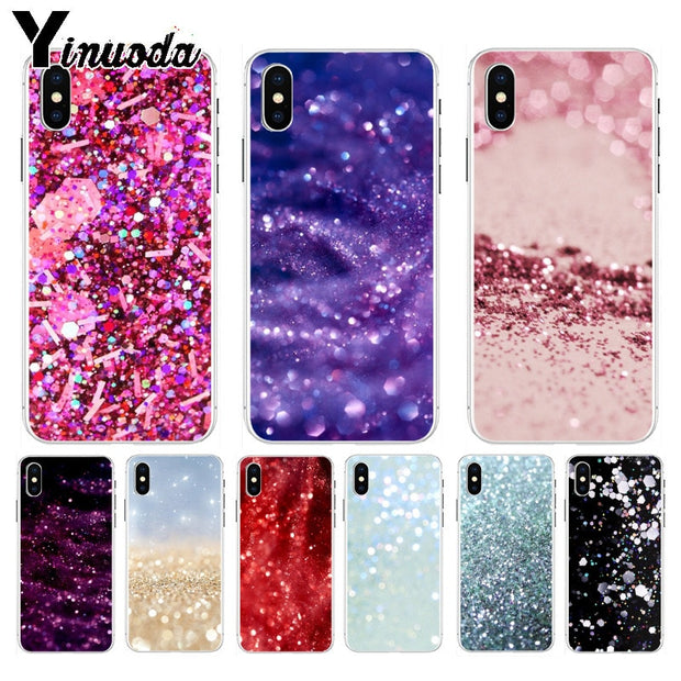 Yinuoda Sparkle Glitter Sand Scale Ultra Thin Cartoon Pattern Back Phone Case For IPhone 8 7 6 6S Plus X XS Max 5 5S SE XR