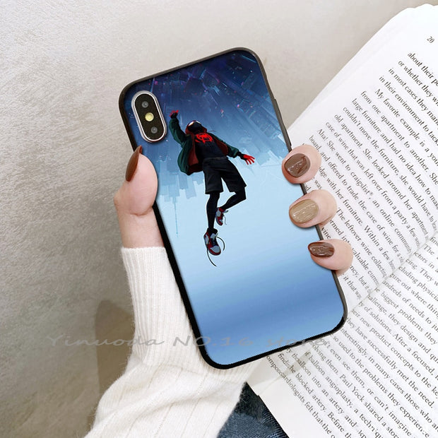 Yinuoda SpiderMan Into The Spider Verse Newly Arrived Phone Cover For Iphone 5 5s SE 6 6s 7 8 Plus X XS XR XSMax Coque Case
