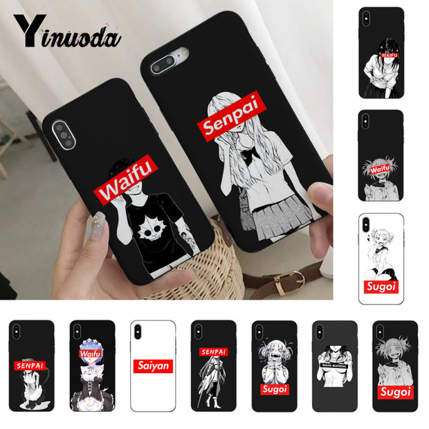 Yinuoda Sugoi Senpai Anime Waifu Hot Selling Fashion Phone Case Cover For IPhone 6S 6plus 7 7plus 8 8Plus X Xs Xr XsMax 5 5S SE