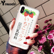 Yinuoda Summer Cute Strawberry Milk DIY Painted Beautiful Phone Accessories Case For IPhone 8 7 6 6S Plus X XS MAX 5 5S SE XR