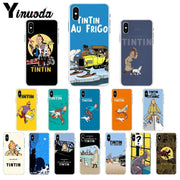 Yinuoda The Adventures Of Tintin Transparent TPU Soft Silicone Phone Case Cover For IPhone 5 5Sx 6 7 7plus 8 8Plus X XS MAX XR