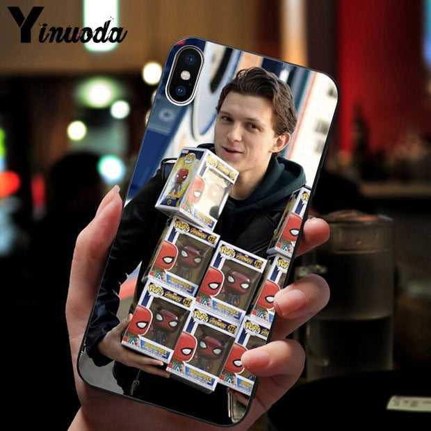 Yinuoda Tom Holland Novelty Fundas Phone Case Cover For IPhone 8 7 6 6S Plus 5 5S SE XR X XS MAX Coque Shell