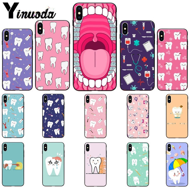 Yinuoda Tooth Nurse Doctor Dentist Stethoscope Tooth Injections Phone Case For Apple IPhone 8 7 6 6S Plus X XS MAX 5 5S SE XR