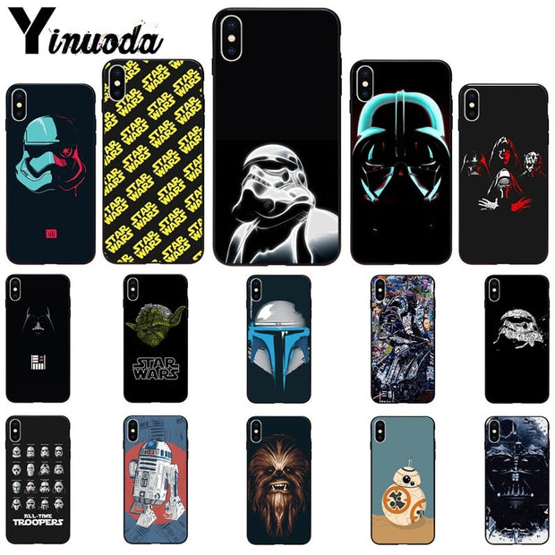 Yinuoda YODA STAR WARS The Force Awakens Coque Shell Phone Case For Apple IPhone 8 7 6 6S Plus X XS MAX 5 5S SE XR Mobile Cover