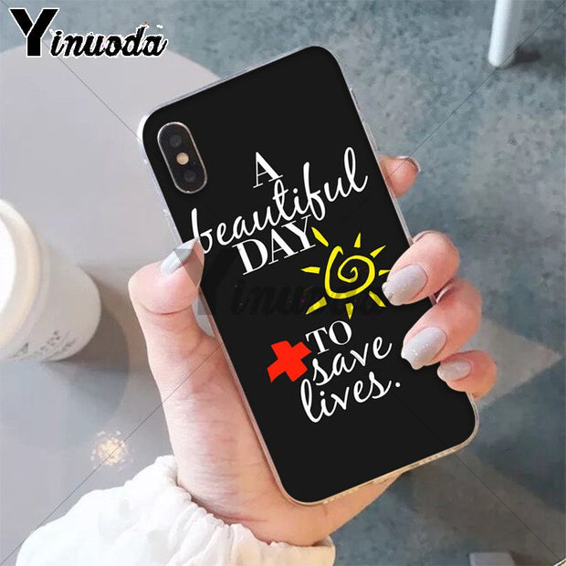 Yinuoda You're My Person Greys Anatomy TPU Phone Case Cover Shell For Apple IPhone 8 7 6 6S Plus X XS MAX 5 5S SE XR