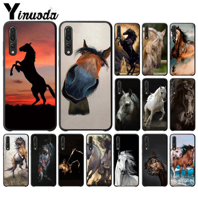 Yinuoda Andalusian Horse Soft Rubber Black Phone Case For Huawei P10 Plus 20 Pro P20 Lite Mate9 10 Lite Honor 10 View10 Cases
