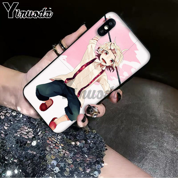 Yinuoda Anime JUUZOU SUZUYA Tokyo Ghouls TPU Soft Silicone Black Phone Case For Apple IPhone 8 7 6 6S Plus X XS MAX 5 5S SE XR