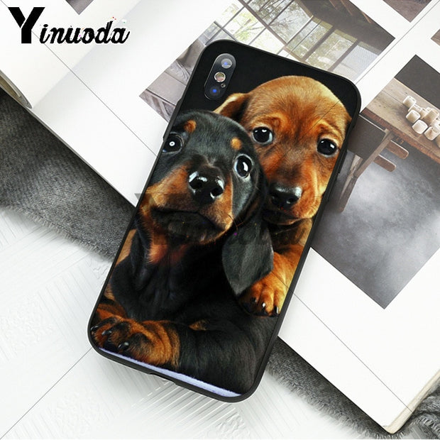 Yinuoda Black Dachshund Doberman Dog Face Newly Arrived Phone Case For Apple IPhone 8 7 6 6S Plus X XS MAX 5 5S SE XR