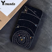 Yinuoda Black With White Moon Stars Space Astronaut Soft TPU Phone Case For Apple IPhone 8 7 6 6S Plus X XS MAX 5 5S SE XR Cover