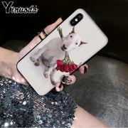 Yinuoda Bullterrier Bull Terrier Dog Soft Rubber Black Phone Case For Apple IPhone 8 7 6 6S Plus X XS MAX 5 5S SE XR Cover
