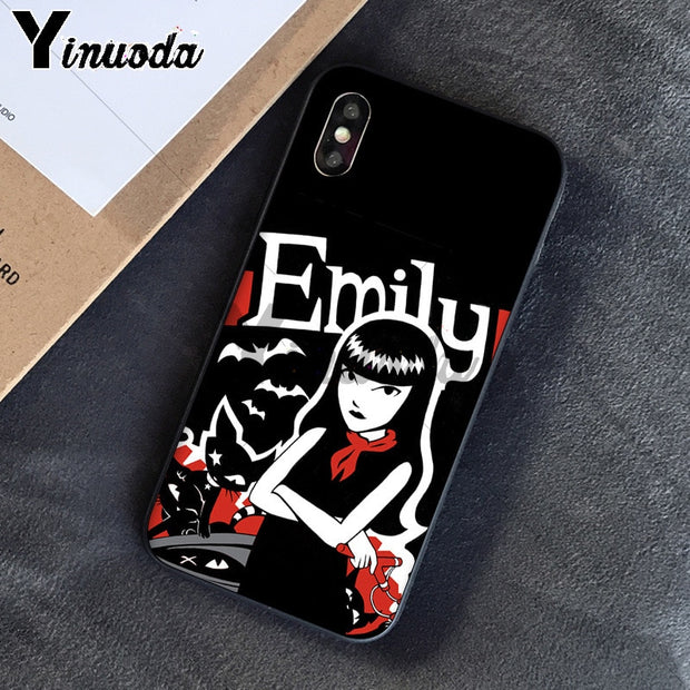 Yinuoda Cartoon Emily The Strange TPU Phone Case Cover Shell For Apple IPhone 8 7 6 6S Plus X XS MAX 5 5S SE XR Mobile Cover