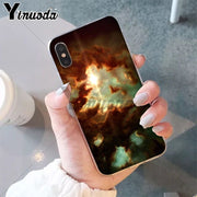 Yinuoda Clouds Rt Cute Kawaii Sky Space TPU Soft Phone Cover For IPhone 8 7 6 6S Plus 5 5S SE XR X XS MAX Coque Shell