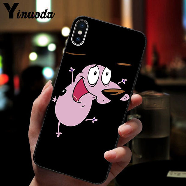 Yinuoda Courage The Cowardly Dog Customer High Quality Phone Case For IPhone 8 7 6 6S Plus X XS MAX 5 5S SE XR Cover
