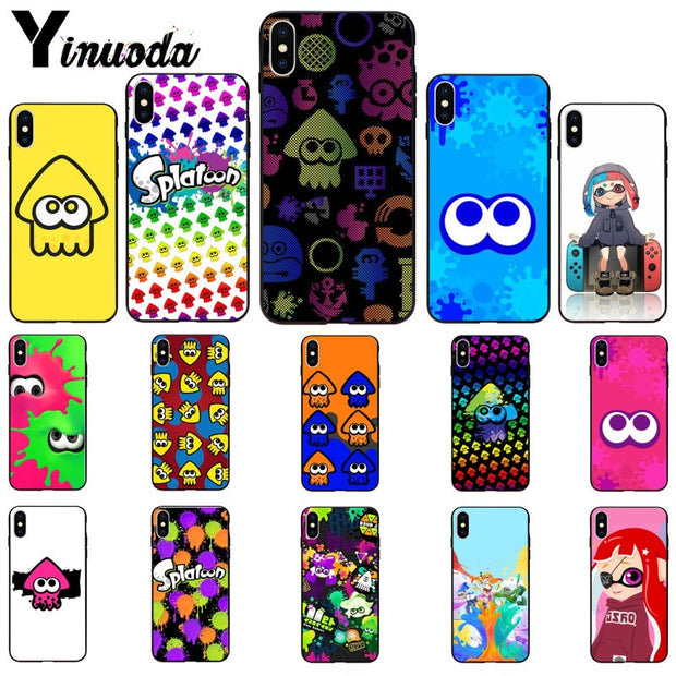 Yinuoda Cute Splatoon Game Coque Shell Phone Case For Apple IPhone 8 7 6 6S Plus X XS MAX 5 5S SE XR Cover