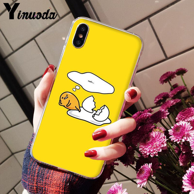 Yinuoda Cute Lovely Gudetama Lazy Egg Luxury Unique Design Phone Cover For IPhone 8 7 6 6S Plus X XS MAX 5 5S SE XR Mobile Cases