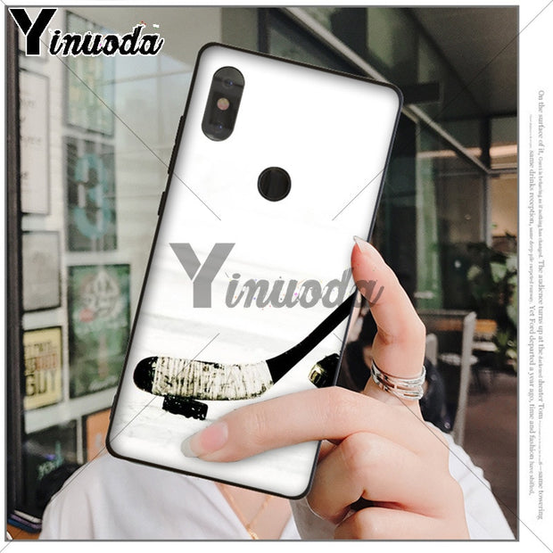 Yinuoda Hockey Sport Black TPU Soft Rubber Phone Cover For Xiaomi Mi 6 8 Se Note2 3 Mix2 Redmi 5 5plus Note 4 5 5 Mobile Cases