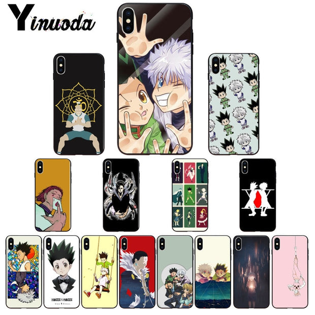 Yinuoda Hunter X Hunter DIY Printing Drawing Phone Case Cover Shell For IPhone X XS MAX 6 6s 7 7plus 8 8Plus 5 5S SE XR