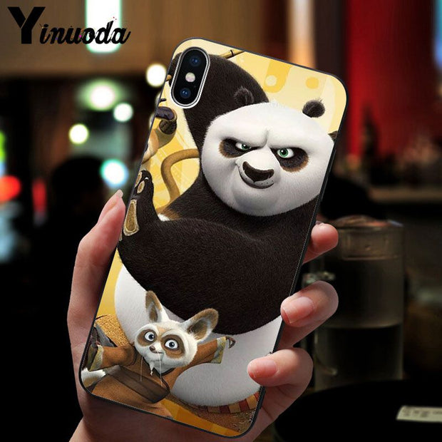 Yinuoda Kungfu Panda Custom Photo Soft Phone Case For Apple IPhone 8 7 6 6S Plus X XS MAX 5 5S SE XR Mobile Cover