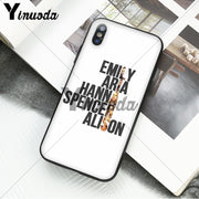 Yinuoda Pretty Little Liars Colorful Cute Phone Accessories Case For IPhone X XS MAX 6 6s 7 7plus 8 8Plus 5 5S SE XR