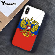 Yinuoda Russia Federation Flag Luxury Unique Design Phone Cover For IPhone 5 5Sx 6 7 7plus 8 8Plus X XS MAX XR