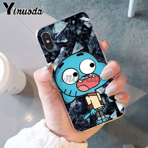 Yinuoda The Amazing World Gumball Gumball TPU Soft Silicone Phone Case For IPhone X XS MAX 6 6S 7 7plus 8 8Plus 5 5S XR