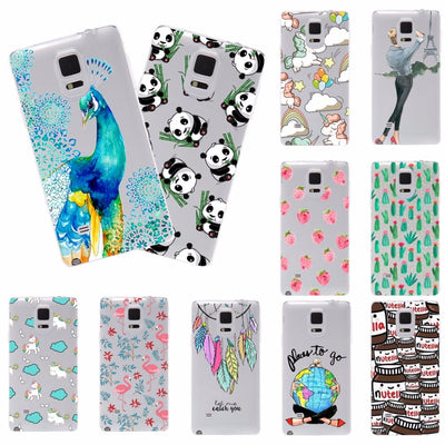 Young Fashion Soft Phone Cases For Samsung Galaxy Note 4 Note4 N9100 Soft Silicone TPU Back Cover For Samsung Note 4 Case Cover